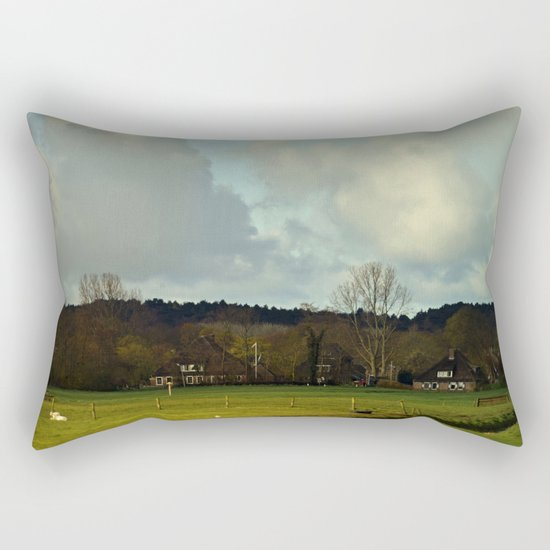 Farm view Rectangular Pillow