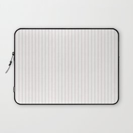 Small Alice Pink and White Mattress Ticking Stripes Laptop Sleeve