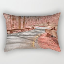 Opalescent Forest Road Rectangular Pillow