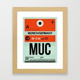 MUC Munich Luggage Tag 2 Framed Art Print