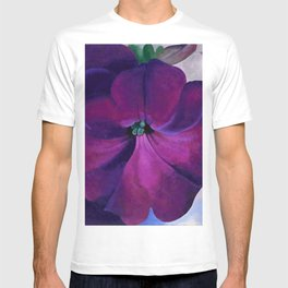 Purple Petunias Sill Life Floral Painting by Georgia O'Keeffe T-shirt
