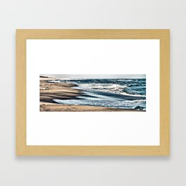 Waves on the Beach Framed Art Print