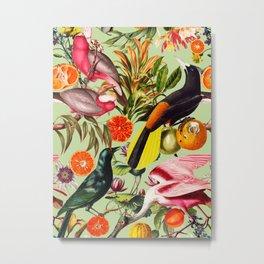 Floral and Birds XXXVII Metal Print