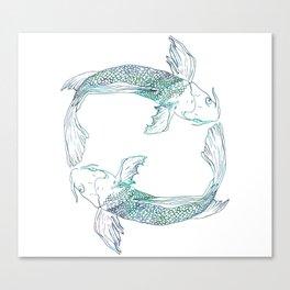 Pisces Swim Canvas Print