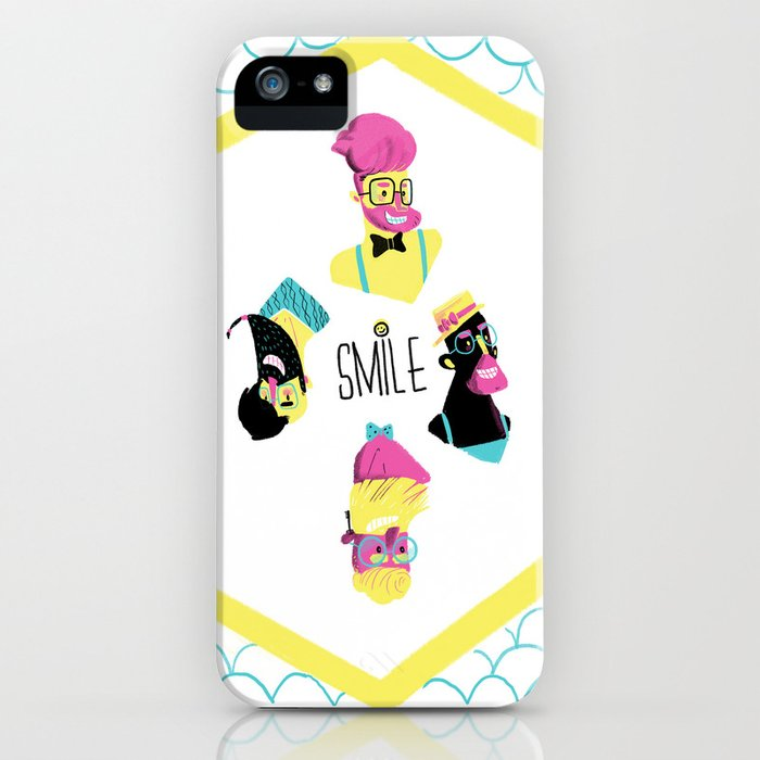 Hipster Smile iPhone Case
