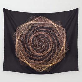 Geometric Rose Wall Tapestry