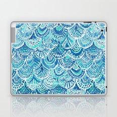 SPLASH Blue Watercolor Mermaid Scales Laptop & iPad Skin