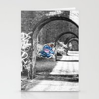 manchester Stationery Cards featuring Manchester Graffiti  by johnshepherdPhotography