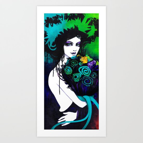 Flora the Goddess of Flowers Art Print