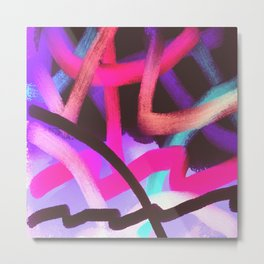 Wild Abstract Art Digital Painting Metal Print