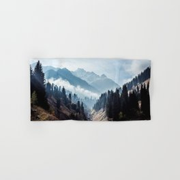 VALLEY - MOUNTAINS - TREES - RIVER - PHOTOGRAPHY - LANDSCAPE Hand & Bath Towel