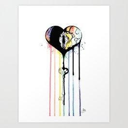 Rainbow Heartbleed Art Print