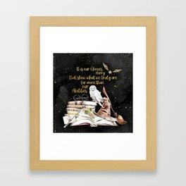 Our Choices - Golden Dust Framed Art Print