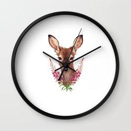 Fireweed Deer Wall Clock