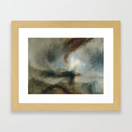 """Tempête de neige en mer """"Snow Storm - Steam-Boat off a Harbour's Mouth"""", William Turner, 1842 Framed Art Print"""