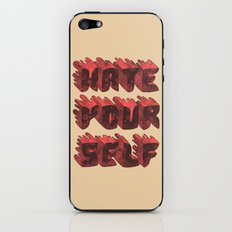 Hate Yourself iPhone & iPod Skin
