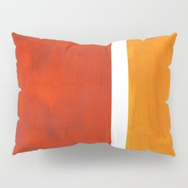 Burnt Orange Yellow Ochre Mid Century Modern Abstract Minimalist Rothko Color Field Squares Pillow Sham