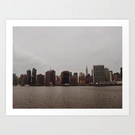 manhattan skyline - long island city Art Print