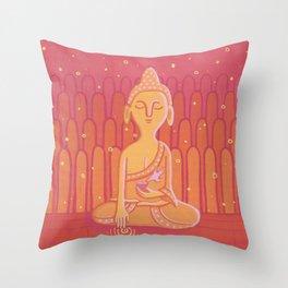 Buddha E Throw Pillow