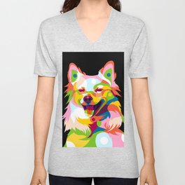 Cute Little Dog Unisex V-Neck