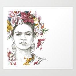 Frida Florida Art Print
