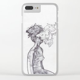 Leaves in The Garden Clear iPhone Case