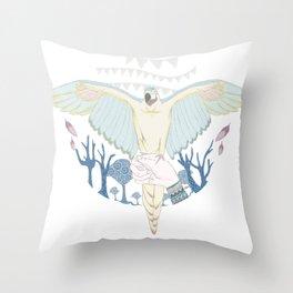 cirque parrot! Throw Pillow
