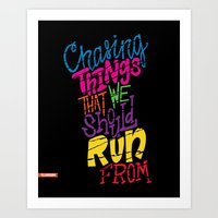 chvrches Art Prints featuring Chasing by Chelsea Herrick