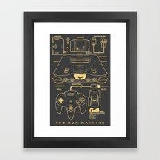 N64 Framed Art Print