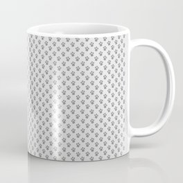 Tiny Paw Prints - Grey on Light Silver Grey Coffee Mug
