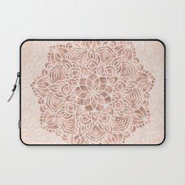 Mandala Seashell Rose Gold Coral Pink Laptop Sleeve