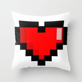 Game life retro heart Throw Pillow