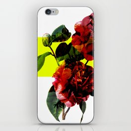 Vintage Blooms /Neon Block iPhone Skin