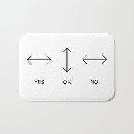 Yes or No Quetsions Bath Mat