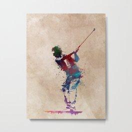 Golf player art 1 Metal Print