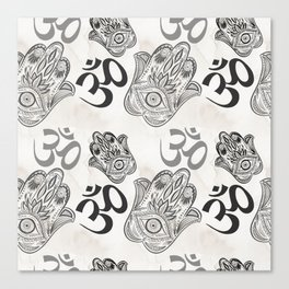 Hamsa Yoga Pattern Canvas Print