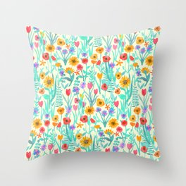 Garden of Joy & Gladness Throw Pillow