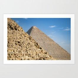 Pyramids of Khufu and Khafre, Giza Art Print
