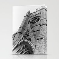 kansas city Stationery Cards featuring Kansas City Church by Michelle Chavez