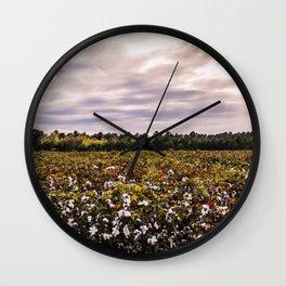 Cotton Field 23 Wall Clock
