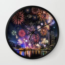 Fabulous Fireworks Wall Clock