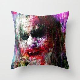 Laugh Joker Throw Pillow