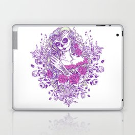 Sexy Woman zombie WITH Flower -  Carla - Vivid Violet - Lavender Laptop & iPad Skin