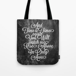 Rise Above (White) Tote Bag