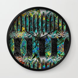 barcelona stripes Wall Clock