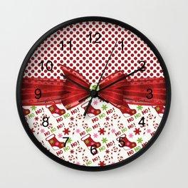 Christmas Ho Ho Ho Wall Clock
