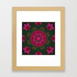 Pink Flower Kaleidascope Framed Art Print