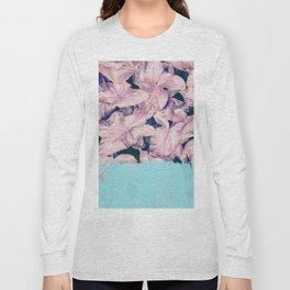 Teal Sorbet on Jungle Long Sleeve T-shirt
