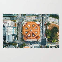 Aerial Cityscape View (Color) Rug