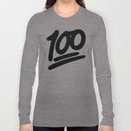 100 EMOJI BLACK Long Sleeve T-shirt